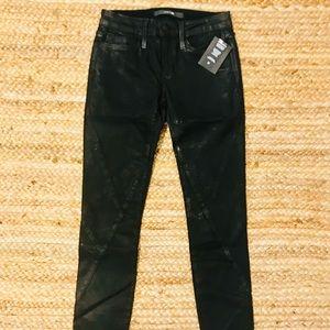 NWT Joe's Black Coated Skinny Jean - 24
